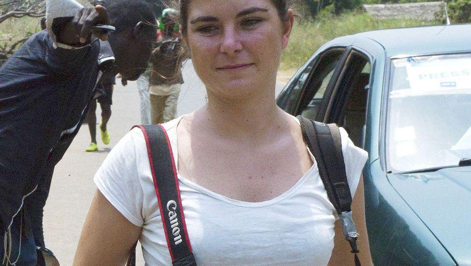 Camille Lepage im Februar in der Zentralafrikanischen Republik: Bei Schusswechsel zwischen muslimischen Rebellen und christlichen Milizen getötet