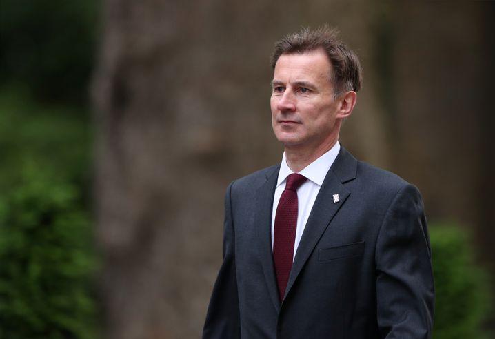 """Der britische Außenminister Jeremy Hunt in London: """"Fast sicher"""""""