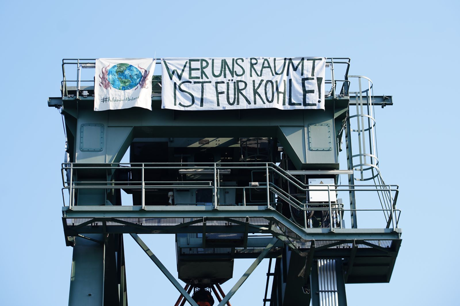 Environmental activists occupy thermal power station in Berlin, Germany - 08 Aug 2020