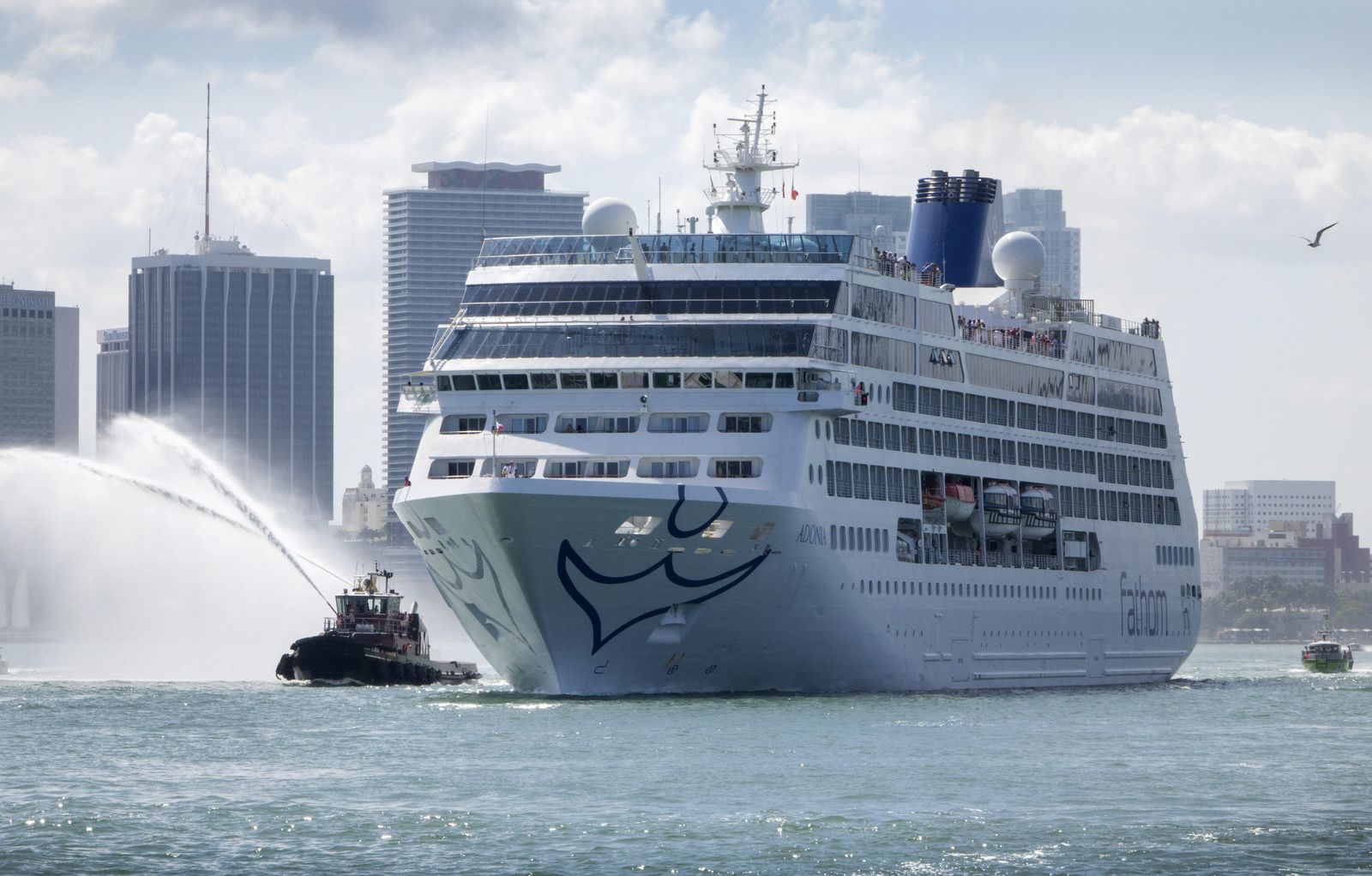 Cruise ship Adonia heads to Cuba from Miamis port