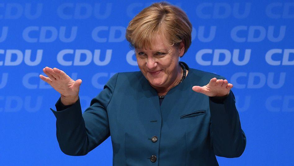Cool bleiben: Kanzlerin Merkel (auf der CDU-Zukunftskonferenz)