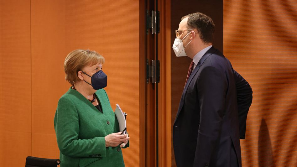 Bundeskanzlerin Angela Merkel und Gesundheitsminister Jens Spahn