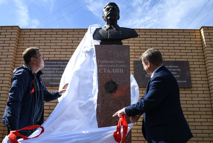 The Stalin bust in Novosibirsk was unveiled on Victory Day, May 9.