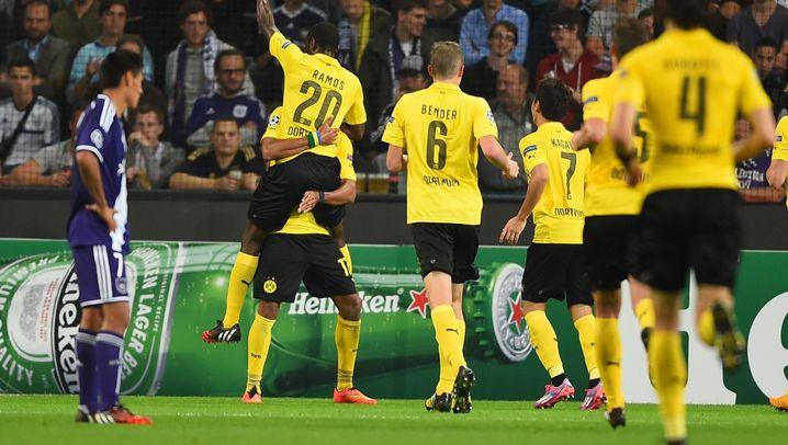 BVB-Erfolg in Anderlecht: Drei Stürmer-Tore für Dortmund