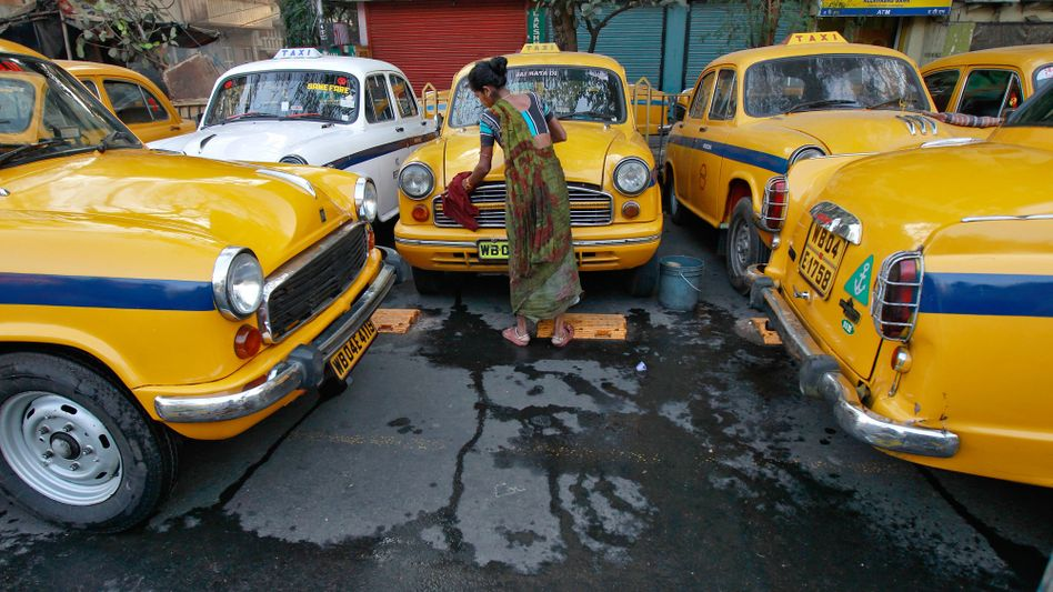 Taxibetrieb in Indien: Fortschritt auch fürs Droschkengewerbe unvermeidlich