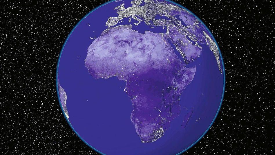 Nächtliche Lichtstärke der Erde (Modell)