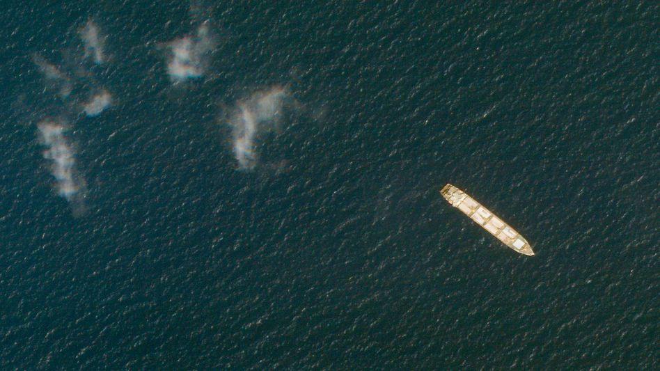 Ein iranisches Frachtschiff auf dem Roten Meer vor dem Jemen (2020)