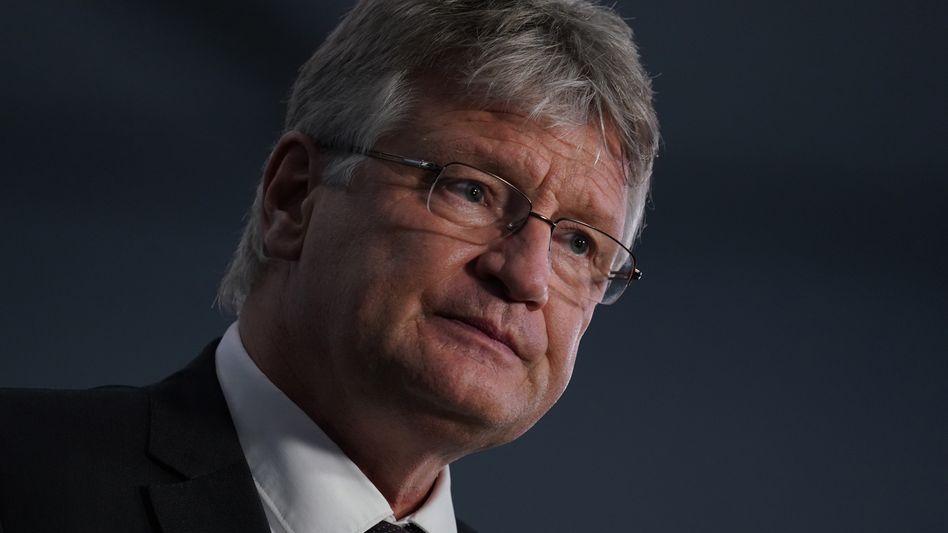 Parteichef Jörg Meuthen: Resignation in seinem Lager