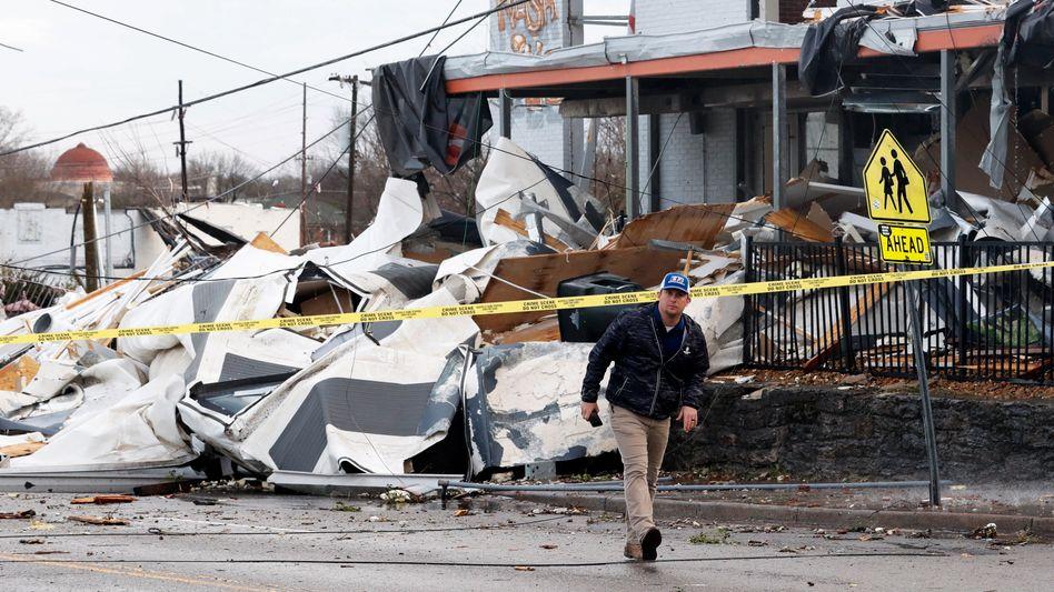 Die Stadt Nashville ist besonders schwer vom Tornado betroffen