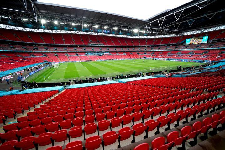 Gefährliches EM-Finale? Im Wembley-Stadion in London sollen 40.000 Zuschauer begrüßt werden