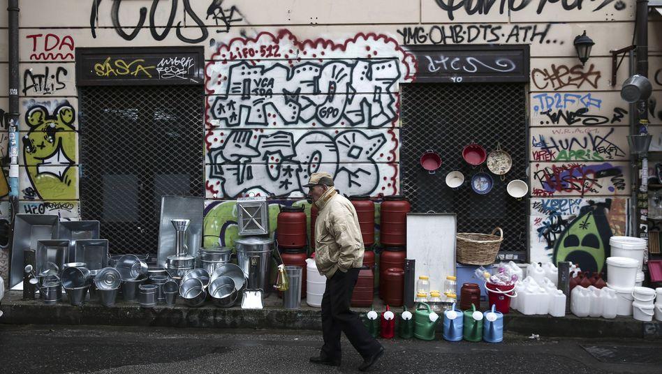 Straßenszene in Athen: Schwere wirtschaftliche Verwerfungen