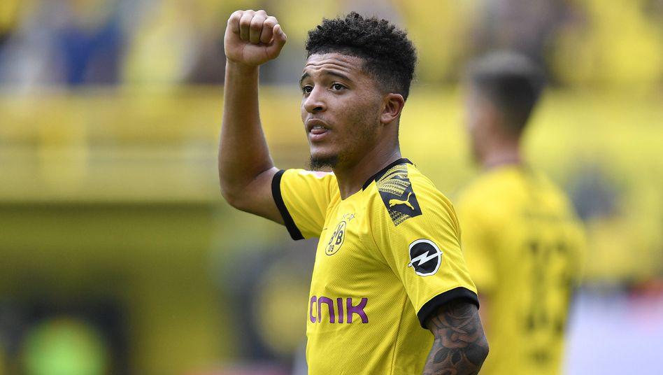 Jadon Sancho rangiert mit Borussia Dortmund an der Tabellenspitze