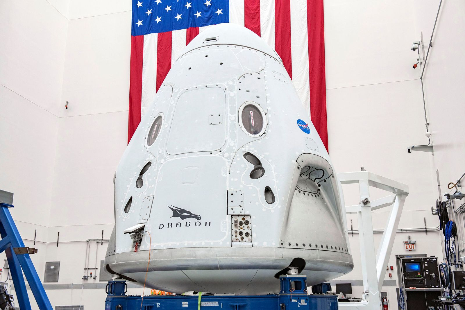NASA's Commercial Crew Program: crew flight set to launch from US soil on 27 May, Cape Canaveral Air Force Station, USA - 11 Apr 2020