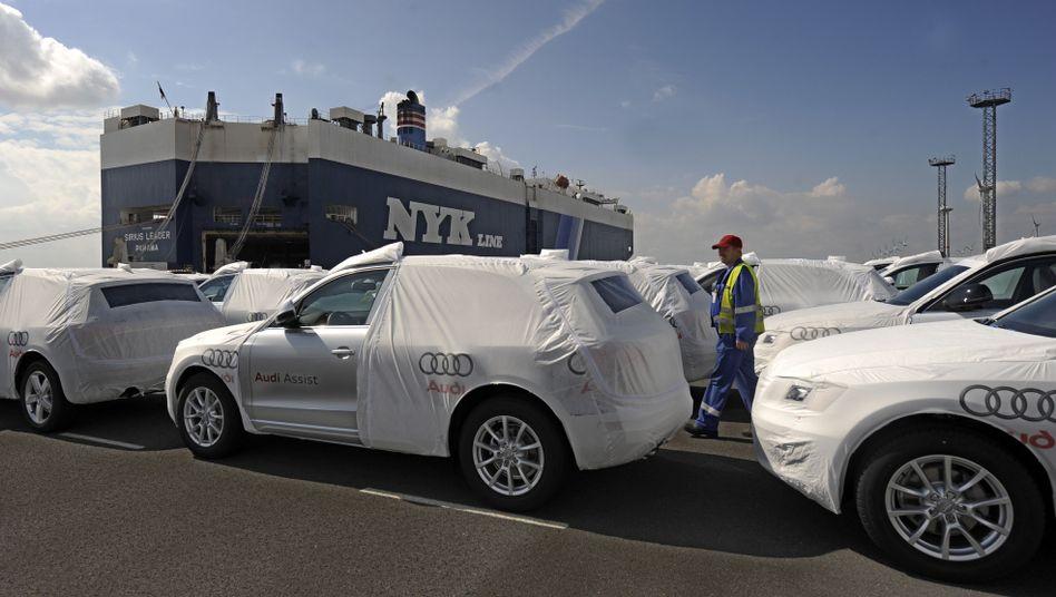 Auto-Export im Emdener Hafen: EU-Partner größte Außenhandelspartner