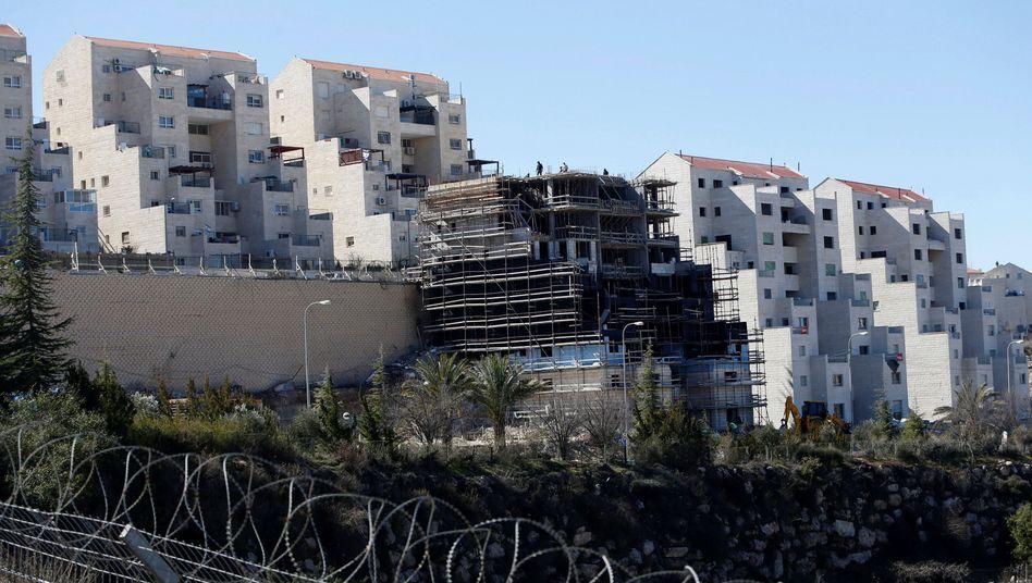 Blick auf eine Siedlung bei Hebron im Februar 2017