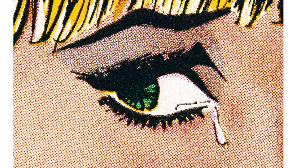 """""""Woman Crying"""" aus einem Romance-Comic von Anne Collier"""