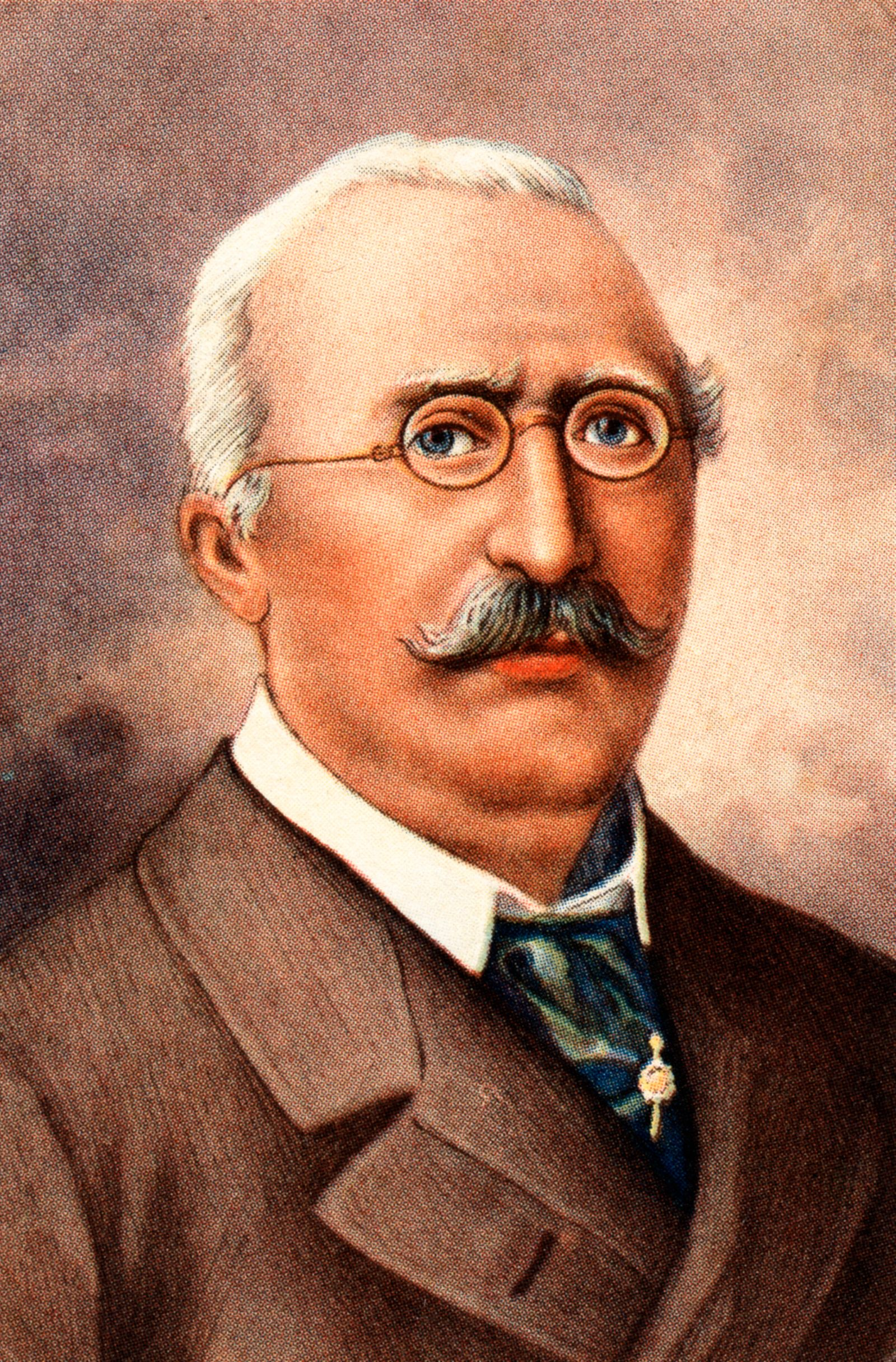 Friedrich Alfred Krupp (1854-1902), German steel manufacturer of the company Krupp, born in Essen (Germany).