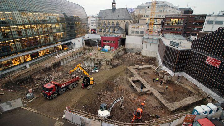 Entdeckung bei Bauarbeiten in Köln: Fundamente der ältesten Bibliothek