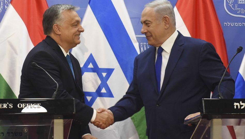 Viktor Orbán und Benjamin Netanyahu