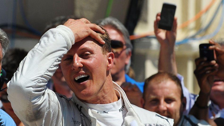 Mercedes-Pilot Schumacher: Freude nach Rennen in Spanien