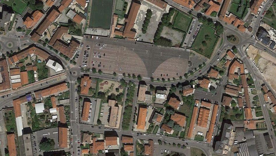 Piazza Europa in Chieri (Luftaufnahme)