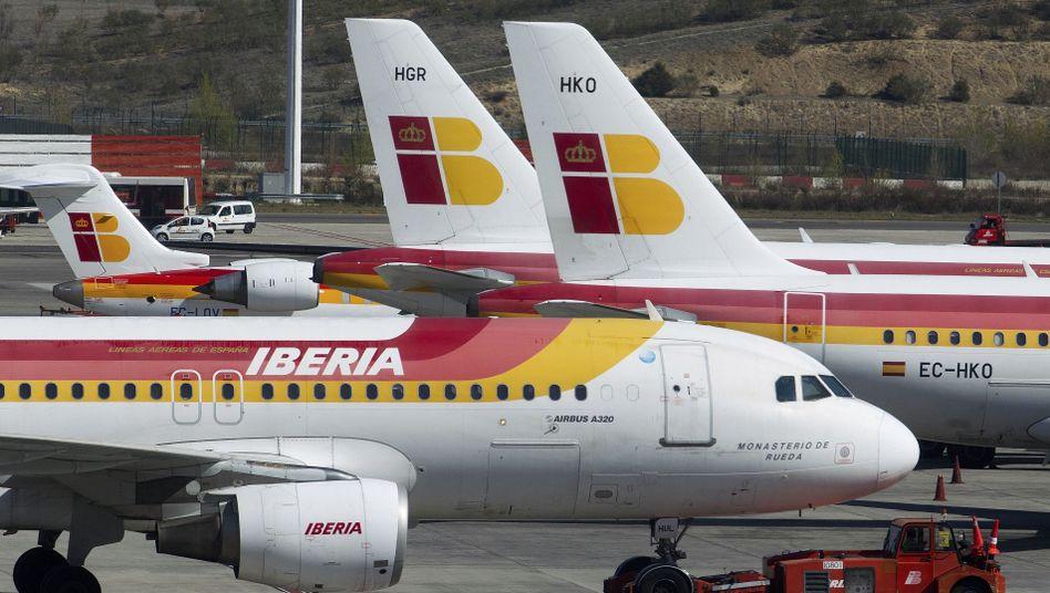 Maschinen von Iberia: Die Piloten wollen sich im März am Streik beteilligen