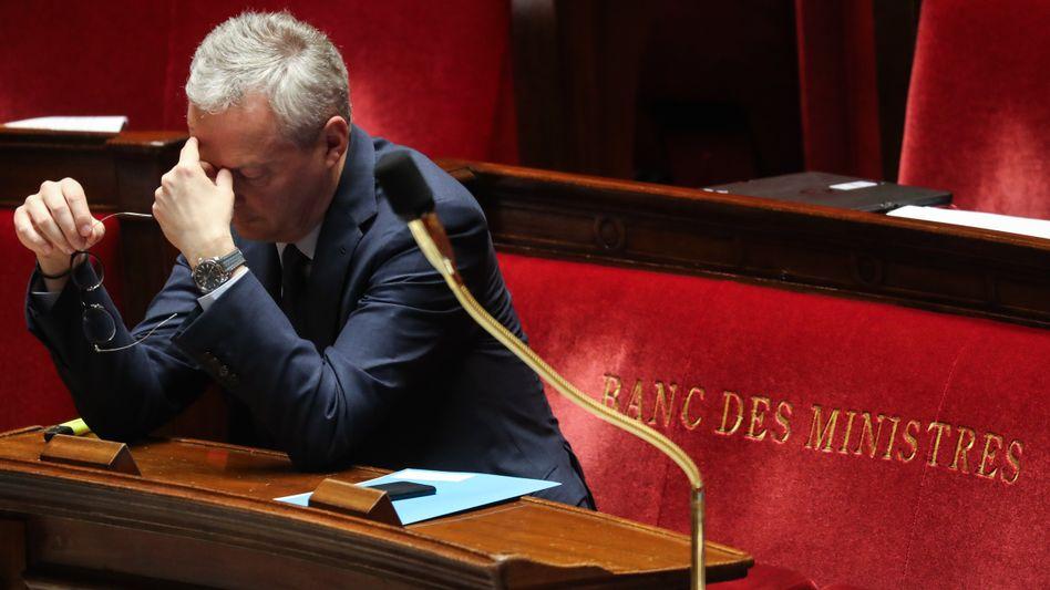"""Finanzminister Le Maire im französischen Parlament: """"Europa zählt auf Deutschland"""""""