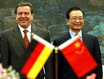 Gerhard Schröder und Chinas Premier Wen Jiabao