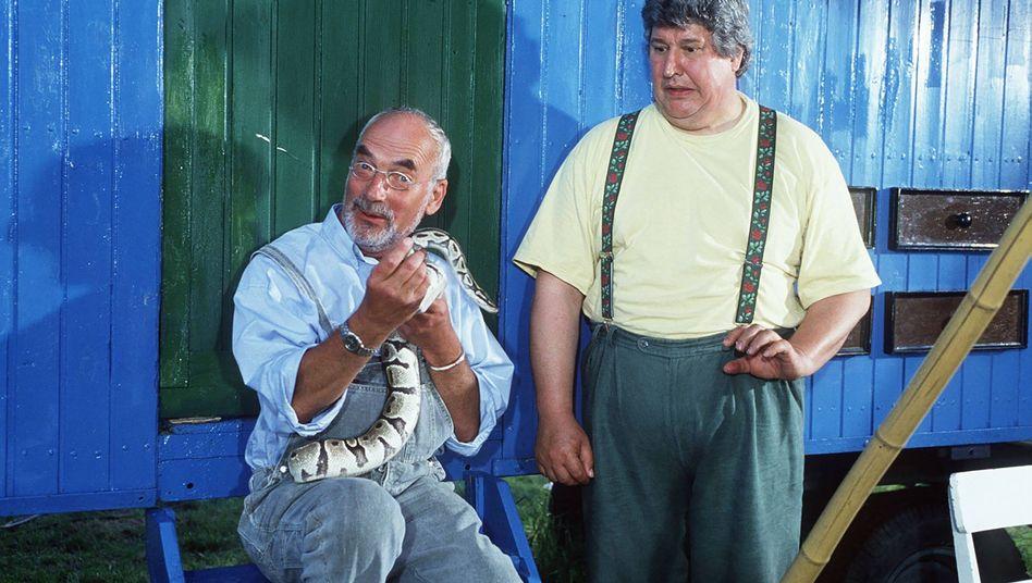 Peter Lustig (links) gemeinsam mit Helmut Krauss: Gegenpole