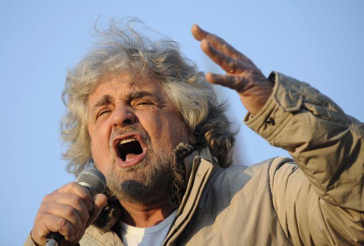 Polit-Komödiant Beppe Grillo warnt vor infektiösen Zuwanderern