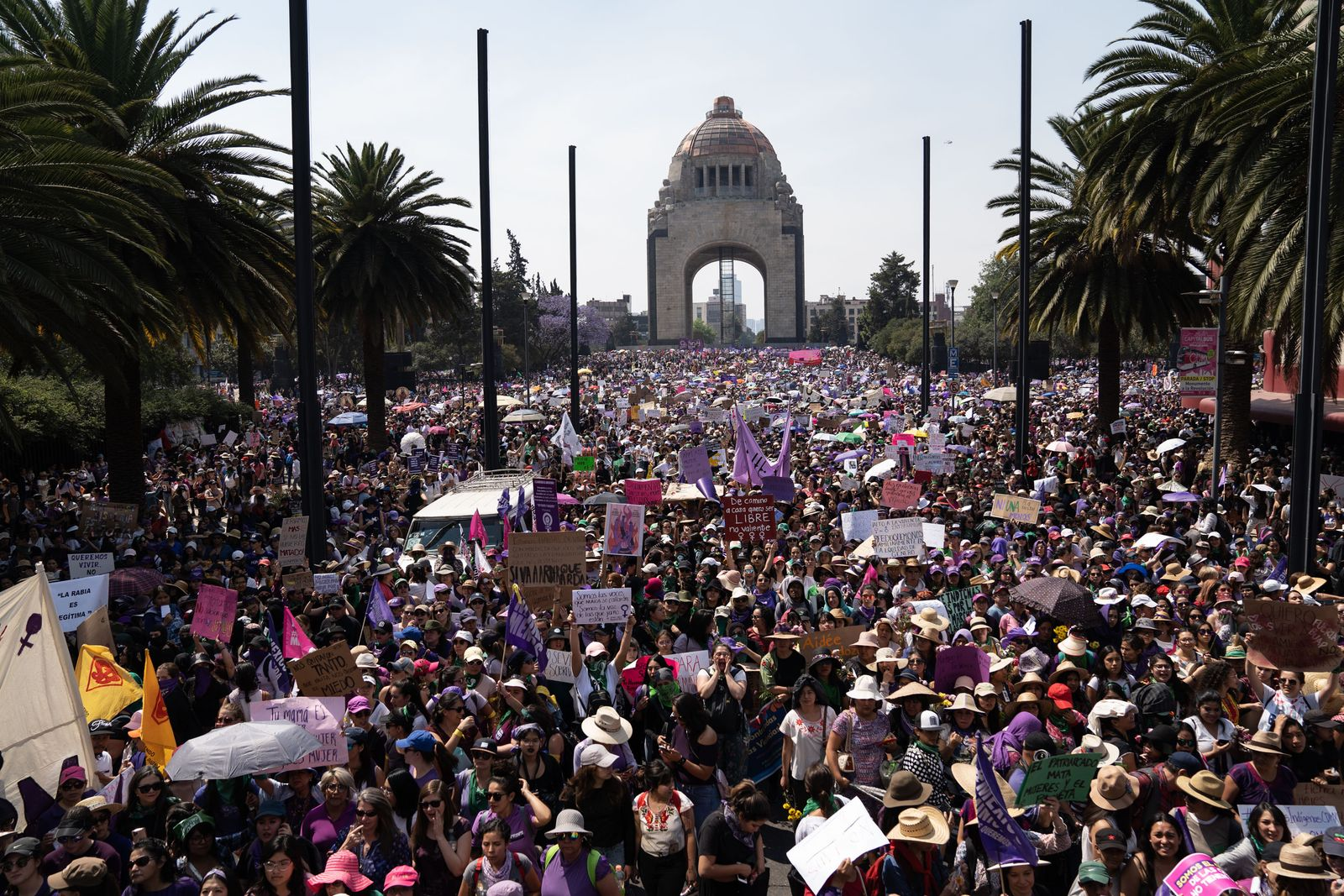 International Women's Day Demonstration In Mexico City