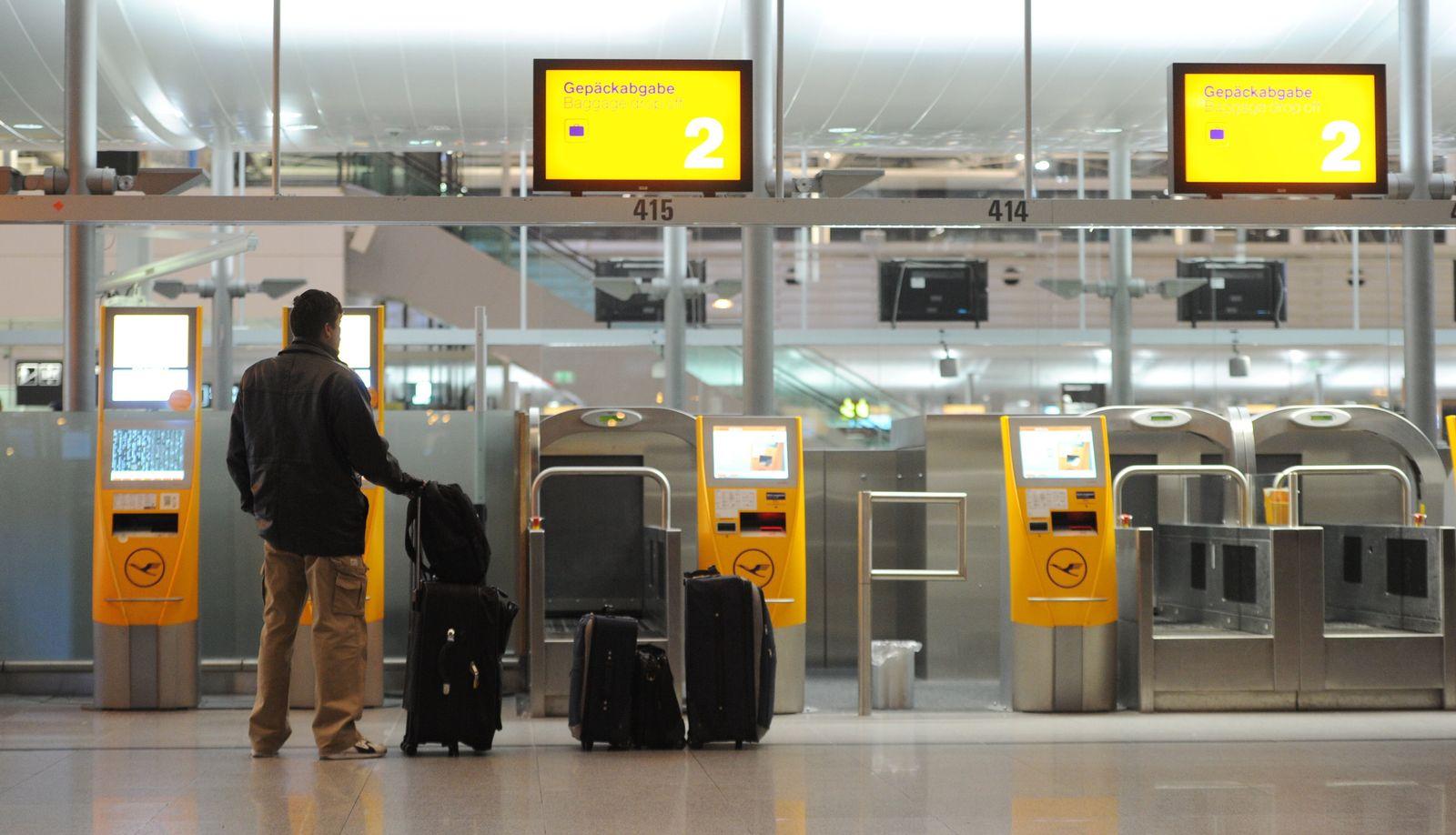 Warnstreik der Lufthansa-Beschäftigten