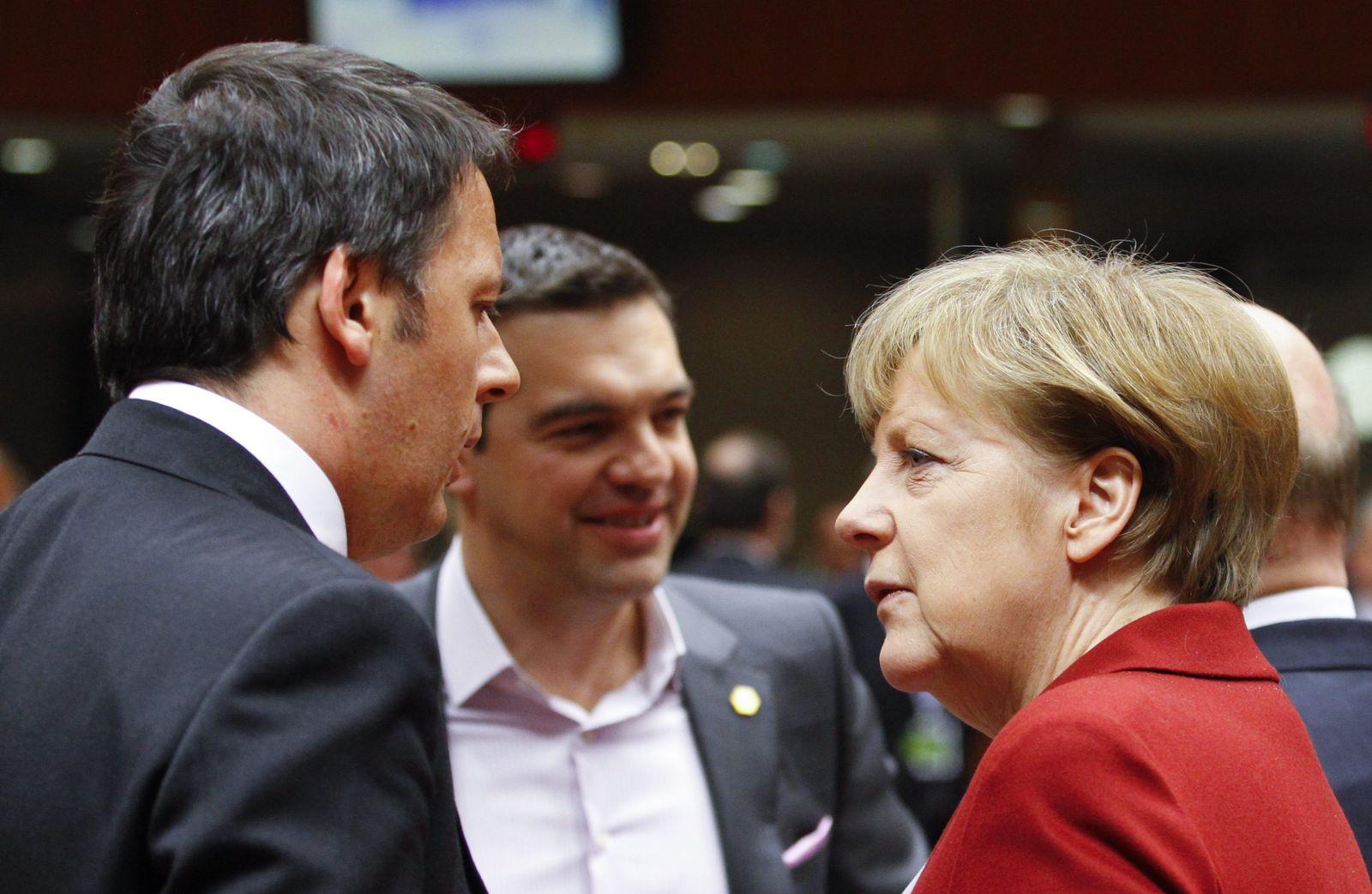 Merkel/ Renzi/ Tsipras