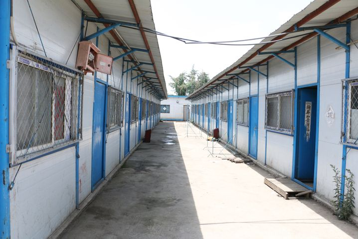 Dormitories for Chinese workers