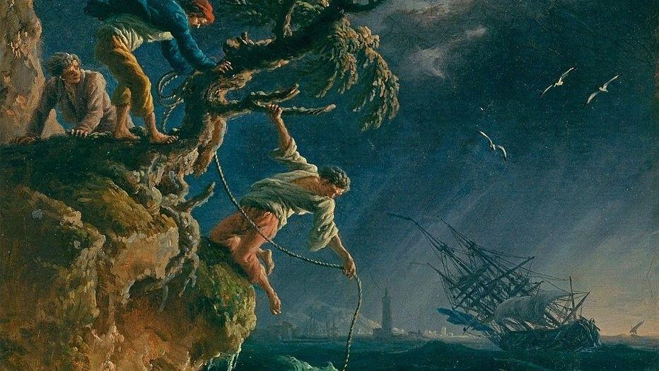 """Vernet-Gemälde """"Der Schiffbruch"""", 1762: Großartiger als der kleinliche Mensch"""