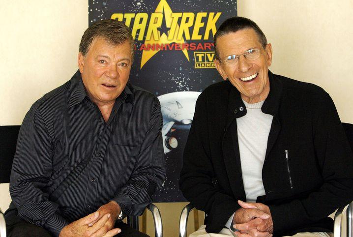 William Shatner (links) und Leonard Nimoy 2006: Untrennbar miteinander verknüpfte Karrieren - und wohl auch Leben