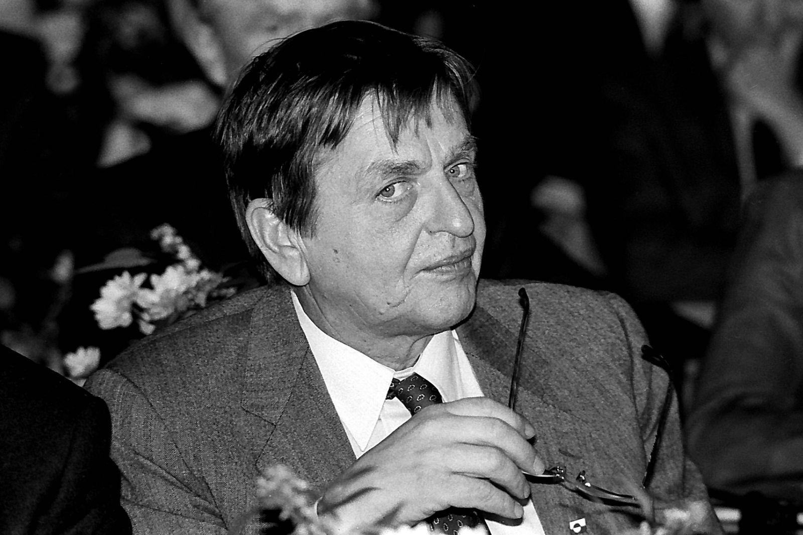 Premierminister Olof Palme (Schweden) in Stockholm PUBLICATIONxNOTxINxDEN
