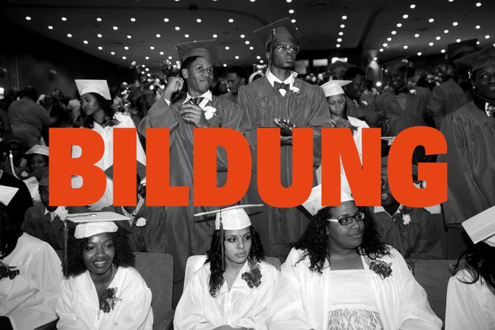 High-School-Absolventen in Bedford-Stuyvesant, Brooklyn, New York 2015 AP Photo/ Seth Wenig