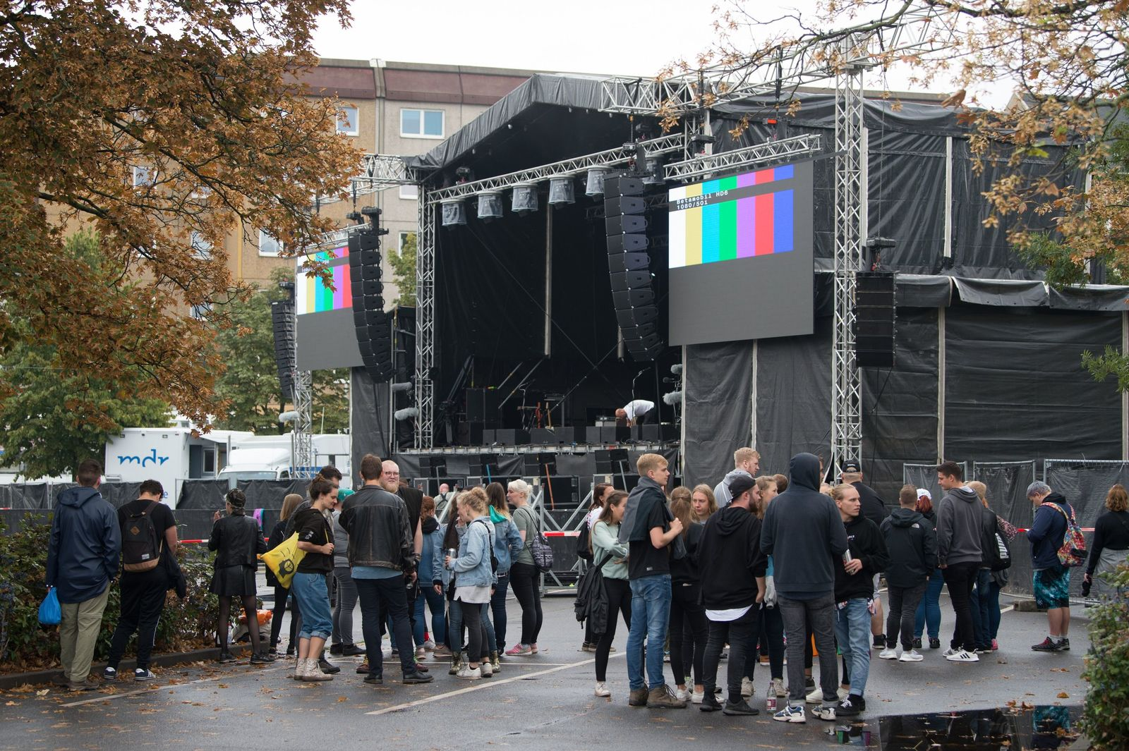 Chemnitz/ Konzert/ Aufbau/ wirsindmehr