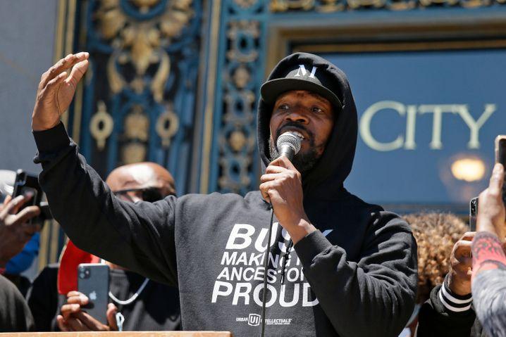 Jamie Foxx bei der Kundgebung in San Francisco