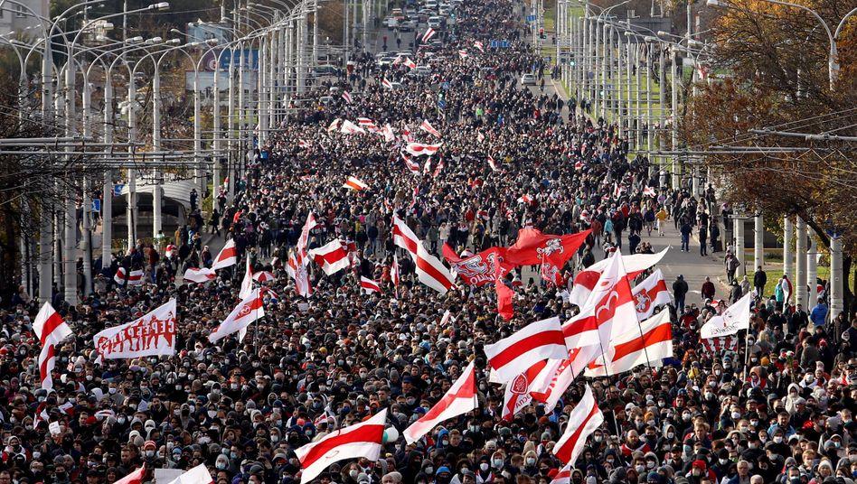 Proteste der Opposition in Minsk