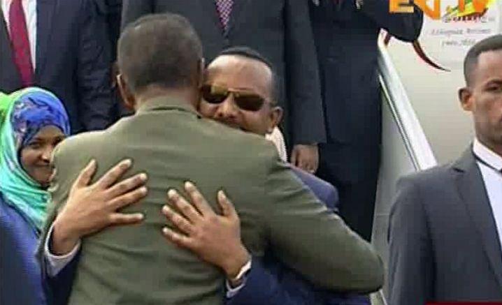 Äthiopiens Abiy (r.) und Eritreas Afwerki in Asmara
