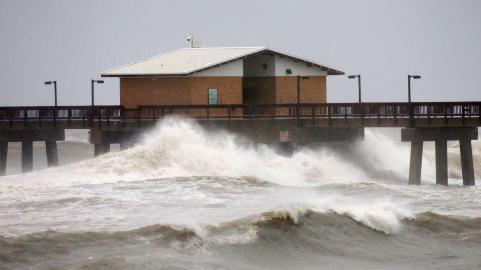 """Gulf Shores im US-Bundesstaat Alabama: Auswirkungen von Hurrikan """"Sally"""""""