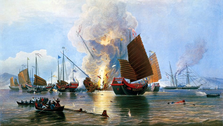 Kampfszene im Opiumkrieg