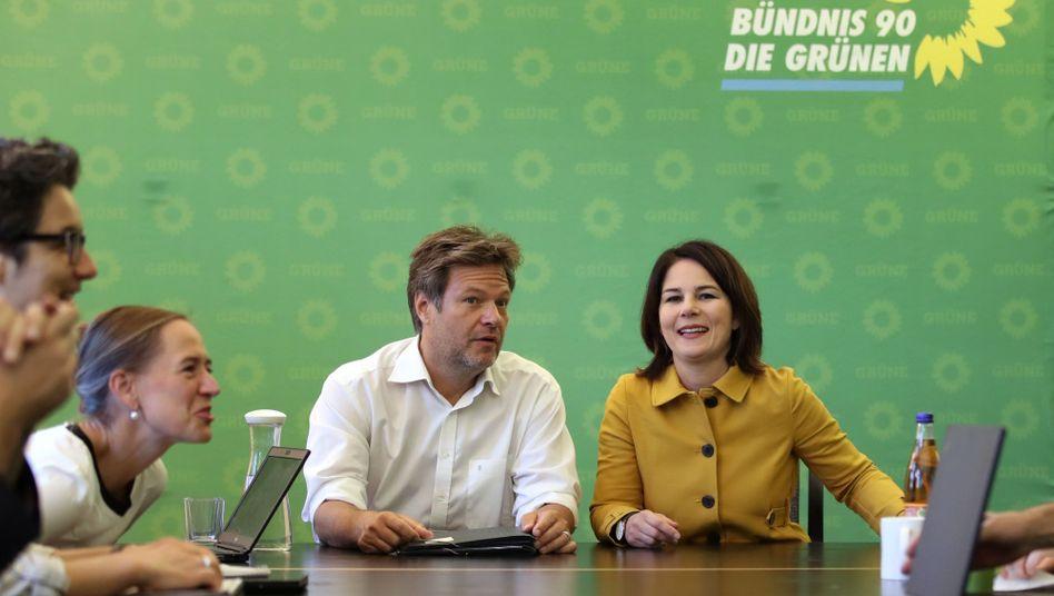 Parteivorsitzende Habeck und Baerbock: die Doppelspitze und die Kanzlerfrage