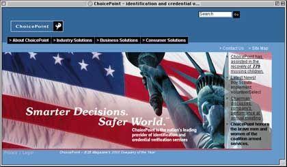 """ChoicePoint-Website, Anlaufstelle für Patrioten und Paranoiker: """"Böse Dinge passieren auch guten Menschen"""""""