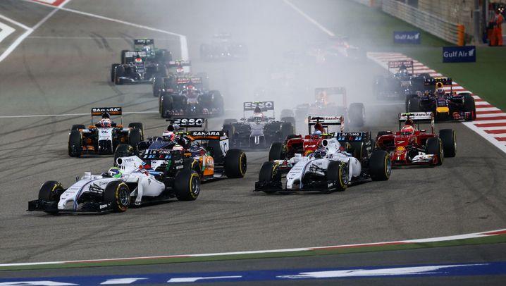Mercedes-Doppelsieg in Bahrain: Silberne Dominanz in der Wüste