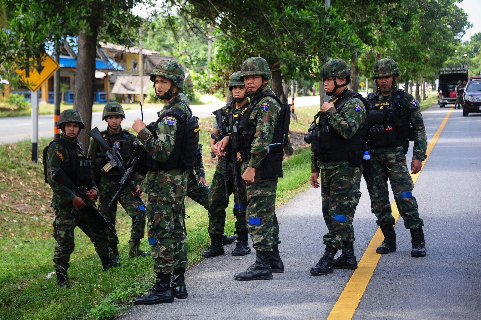 Thailand Soldaten in Narathiwat