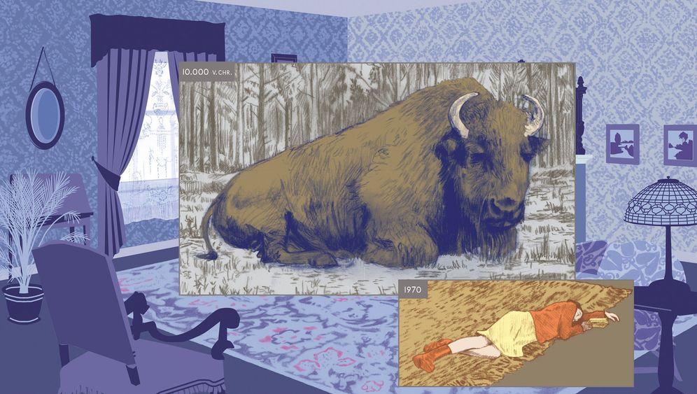 """Richard McGuires Comic """"Hier"""": Zeit und Raum in Bildern festhalten"""
