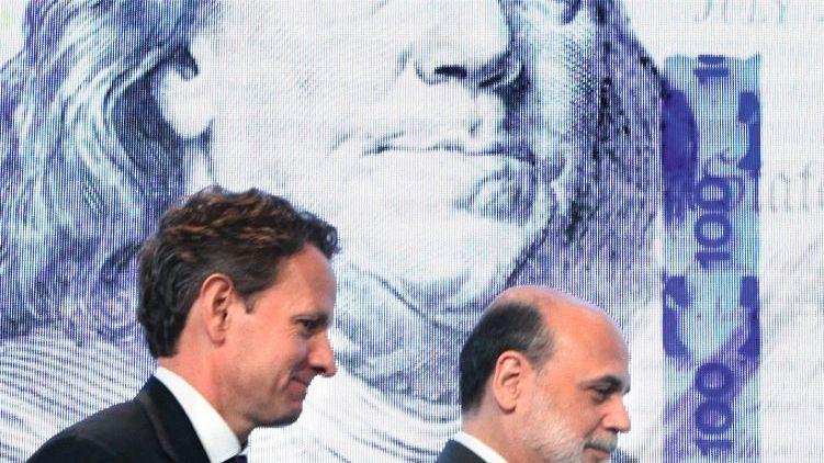 Dollar-Verteidiger Geithner, Bernanke: Akuter Schwächeanfall